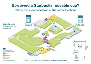 Starbucks and Hubbub launch first ever airport reusable cup ... on charles de gaulle international airport, los angeles international airport, copenhagen airport, edi airport map, afonso pena international airport map, dublin airport, lgw airport map, orlando international airport, united airlines seatac airport map, amsterdam schiphol airport, chennai international airport map, noi bai international airport map, thomas cook airlines, london stansted airport, monarch airlines, edinburgh airport, providenciales international airport map, john f. kennedy international airport, syracuse hancock international airport map, heathrow airport map, frankfurt airport map, hong kong international airport, baghdad international airport map, dubai international airport, newark liberty international airport, london heathrow airport, airport taxi map, london city airport, frankfurt international airport, dublin airport map, durham airport map, chhatrapati shivaji international airport map, san francisco airport map, reading airport map, aalborg airport map, london map, malta international airport map,