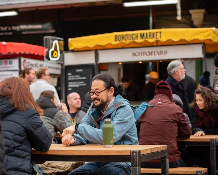 people enjoying Borough Market
