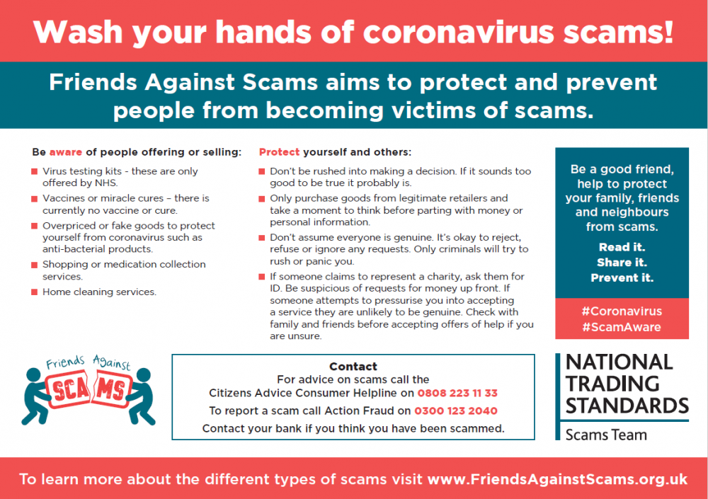 Friends Against Scams campaign infographic