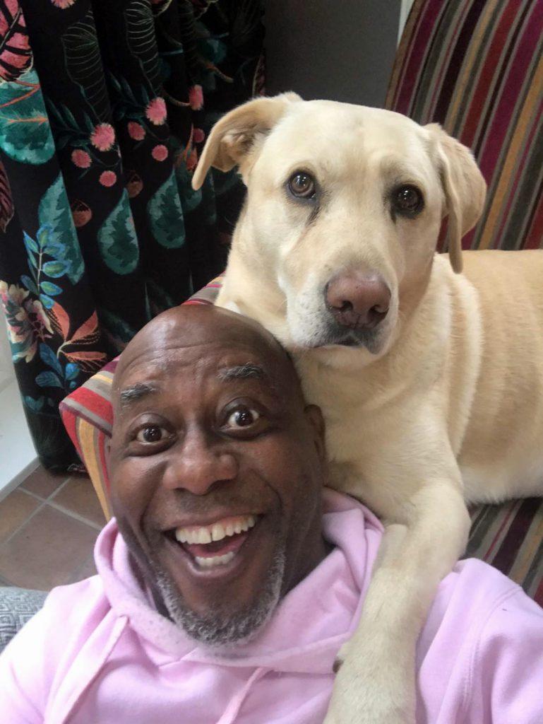 Ainsley Harriott and his dog Bobby