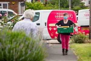 Helen Innes delivers food