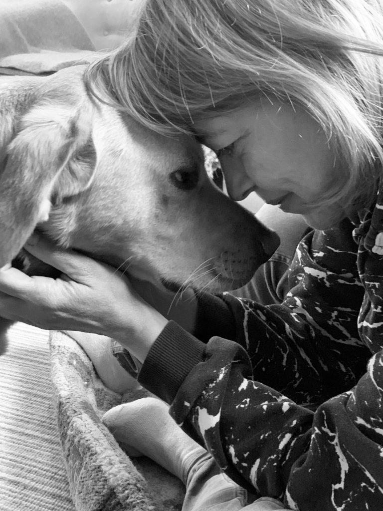 Nicola Walker and her dog Dora