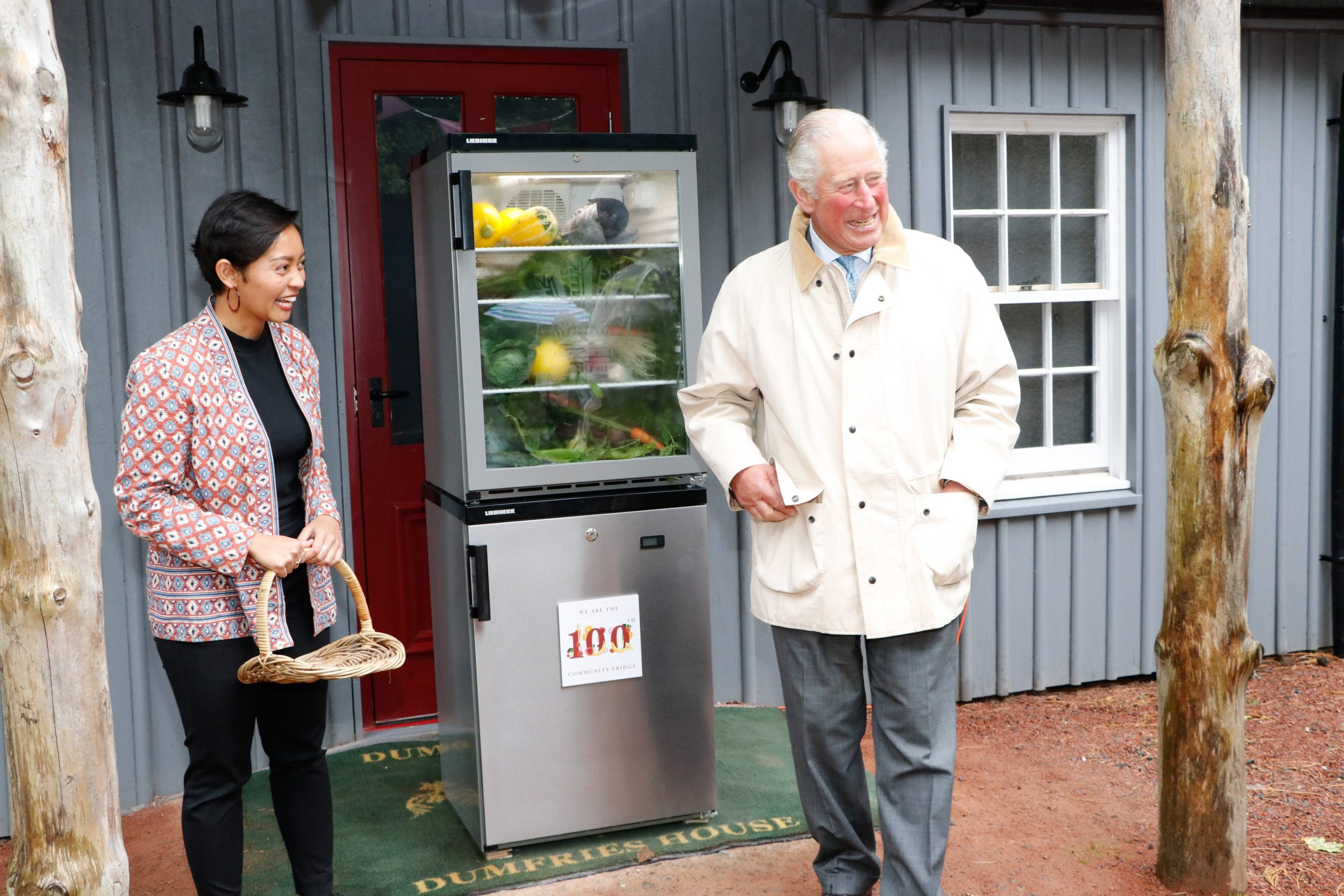 HRH The Prince of Wales opening the 100th Community Fridge